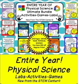 Physical Science Bundle Physical Science is this Bundle, you will enjoy the following EDITABLE!!! - Vocabulary Centered Labs, Activities, and Games Bundle! - EDITABLE!!! - YOU SAVE 35% OFF REGULAR PRICE!!! We all agree the best part of being a teacher