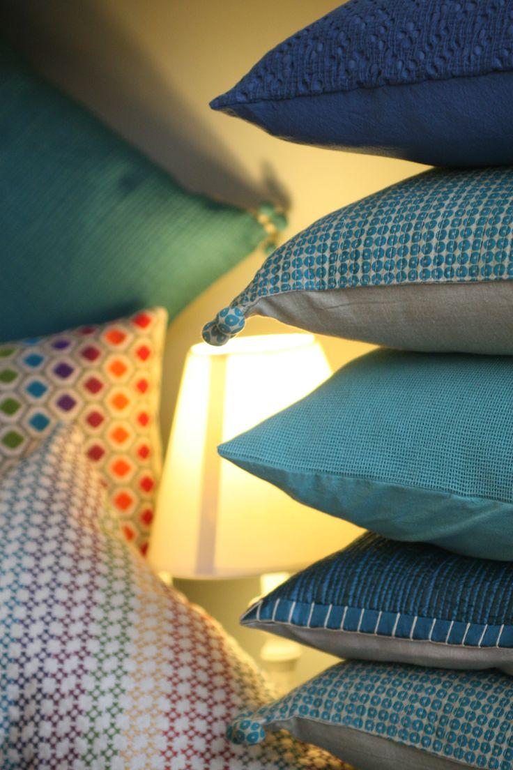 collezione di cuscini turchesi