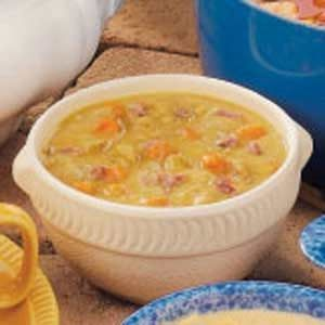 Old-Fashioned Split Pea Soup with Ham Bone Recipe -This old-fashioned favorite is not only a snap to make but it's economical, too, confirms Laurie Todd of Columbus, Mississippi. Carrots, celery and onion accent the subtle flavor of the split peas, while a ham bone adds a meaty touch to this hearty soup. It's sure to chase away autumn's chill.