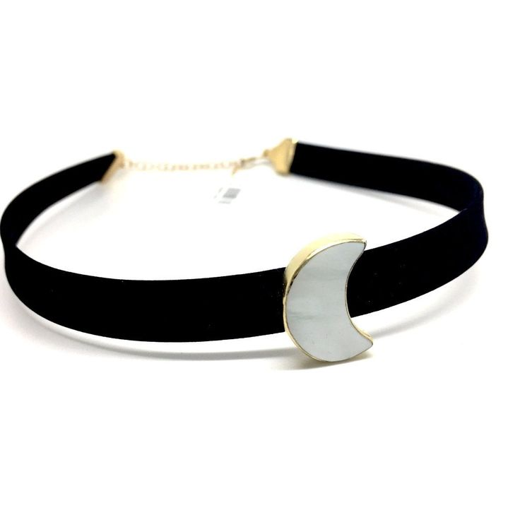 """""""The first step to getting the things you want out of life is this: decide what you want.""""  Ben Stein   Find the perfect gift!!! 🎁     MOTHER OF PEARL MOON CHOKER ON GOLDEN 925 STERLING SILVER PLATE"""