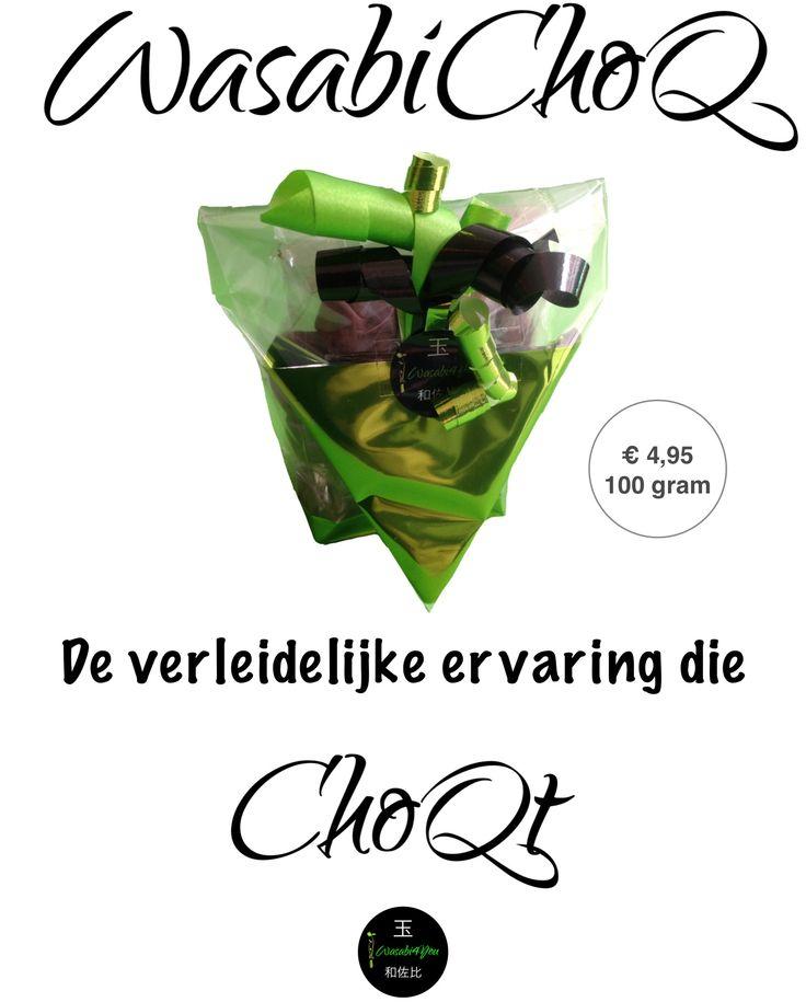 WasabiChoQ van Wasabi4You. 70.4% Callebaut Chocolade met echte Wasabi.