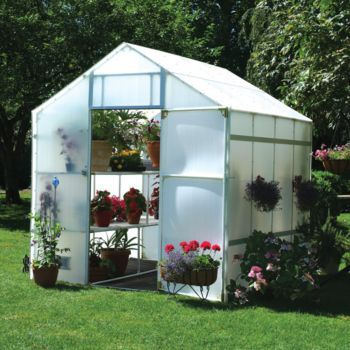 Solexx Garden Master 24 Ft Greenhouse  Solexx Garden Master Greenhouse Surprisingly Spacious A master gardener's delight or the hobbyist's dream. This spacious, European-style greenhouse kit has 6 foot 6 inches tall outer walls and a gable that peaks at 8 foot 9 inches for ample room to trellis plants like cucumber, cantaloupe and tomatoes.