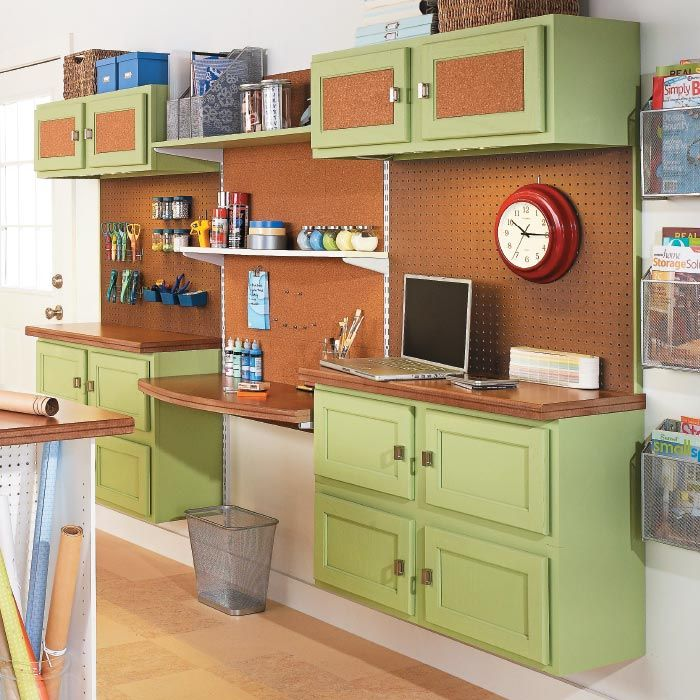 Craft storage using old kitchen cabinets basement for Kitchen craft cabinets