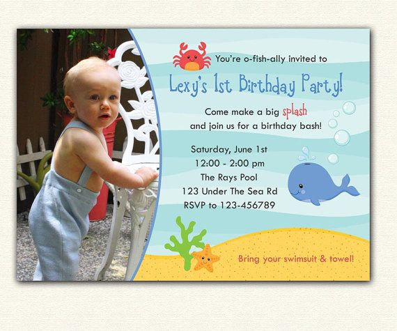 Printable Birthday Invitations For Boy ~ Best under the sea invitation images birthday