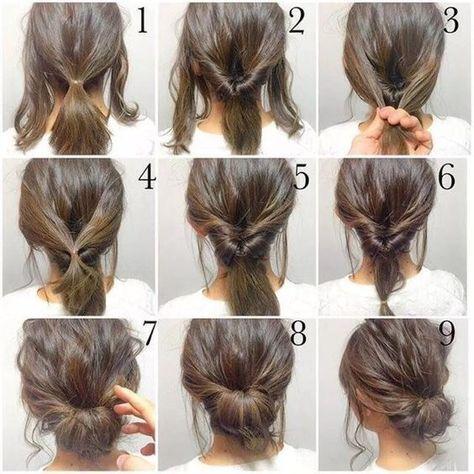 5 Minute Hair Bun fashion hair diy hairdo updo hairstyle bun instructions direct…