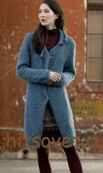 Вязаное пальто спицами с описанием http://hitsovet.ru/vyazanoe-palto-spicami-s-opisaniem/