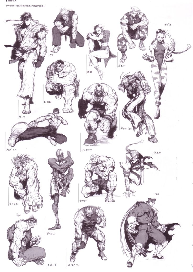 Street Fighter ✤ || CHARACTER DESIGN REFERENCES | キャラクターデザイン | çizgi film • Find…