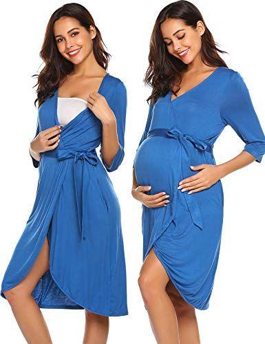 5808abeb33f Ekouaer Maternity Labor Delivery Nursing Robe Hospital Ba... https   www