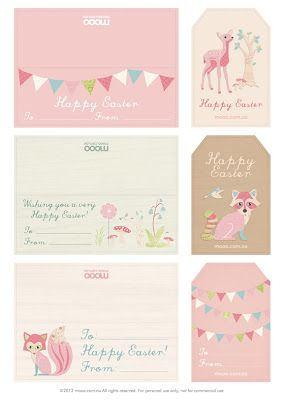 Fawn: Adorable (and free!) Easter Printables   – Kostenlose Downloads