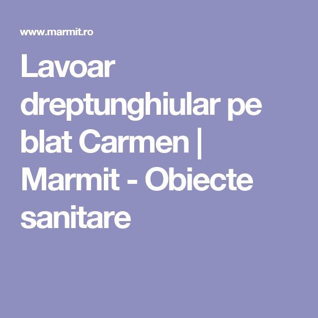 Lavoar dreptunghiular pe blat Carmen   Marmit - Obiecte sanitare
