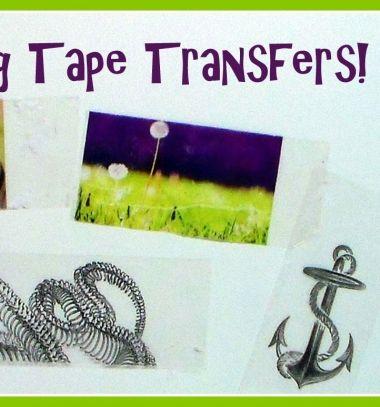 DIY Packaging tape transfer - easy gifts in minutes // Transzferálás ragasztószalaggal - egyedi ajándékok egyszerűen // Mindy - craft tutorial collection