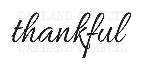 Caída de acción de gracias plantilla  gracias  3 por OaklandStencil