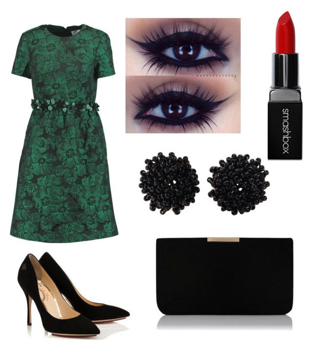 """""""Green"""" by gforfashion on Polyvore featuring Mikael Aghal, Humble Chic, L.K.Bennett and Smashbox"""