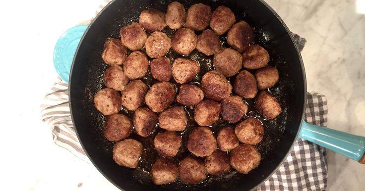 Klassiska köttbullar på Jessica Frejs vis - glutenfria och göttiga!