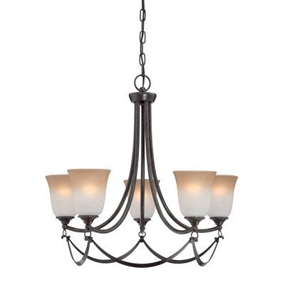 allen   roth LWS0333C 5-Light Drape Imperial Bronze Chandelier