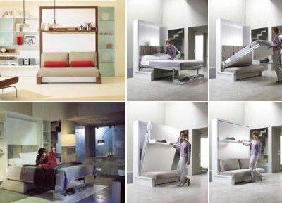 Love this! Sleeping Beauty: Sofa-Murphy Bed Combination