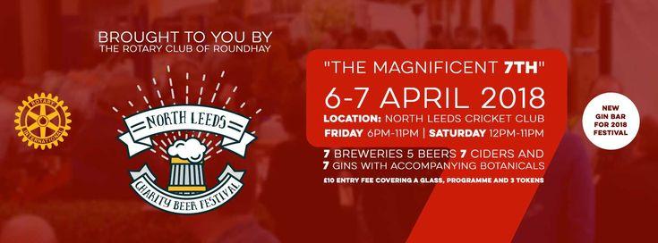 North Leeds Charity Beer Festival 2018 - 35 real ales, 7 breweries, 7 ciders & gin bar #beerfestival