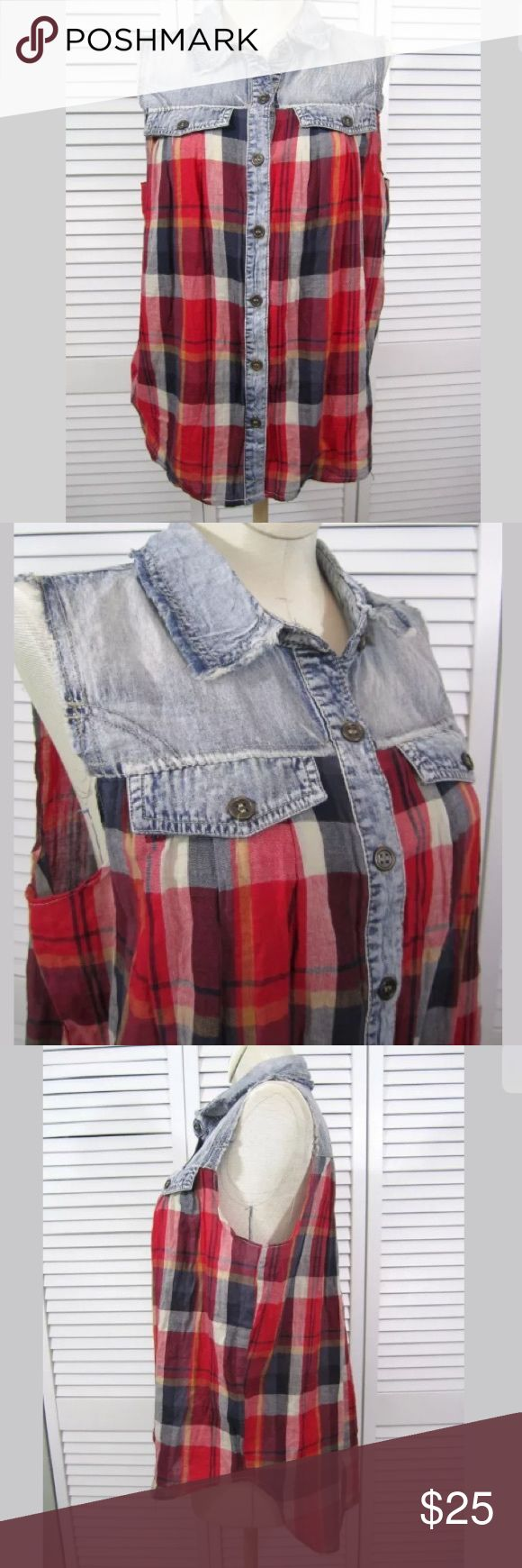 sale urban outfitters plaid chambray top right on trend urban outfitters