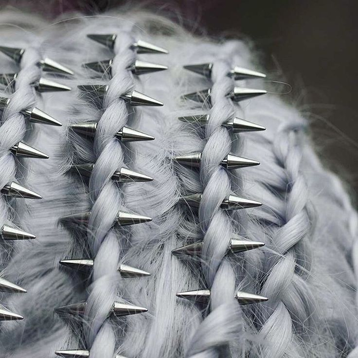 Braids and hair spikes. #pastelhair #hairstyle