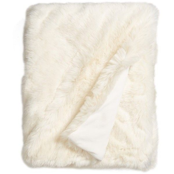 Nordstrom At Home Cuddle Up Faux Fur Throw Blanket ($149) ❤ liked on Polyvore featuring home, bed & bath, bedding, blankets, ivory, cream blanket, cream throw, faux fur throw, ivory throw and faux fur blanket