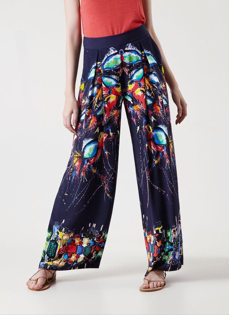 Pantalón Palazzo Fishkite - Pantalones y faldas   Adolfo Dominguez shop online