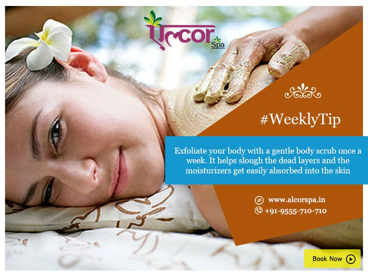 #BeautyTip #WeeklyTip #SkinCare #BodyScrub #Alcorspa Call: 9555 710 710 or visit: http://alcorspa.in/book-appointment/ for spa and body massage appointments.
