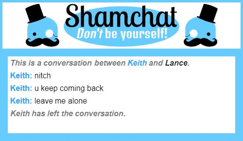 A conversation between Lance and Keith pt2