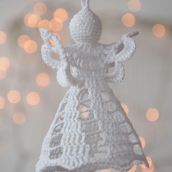 Gehaakte kerst engel kerstboom decoratie door SevisMagicalStitches