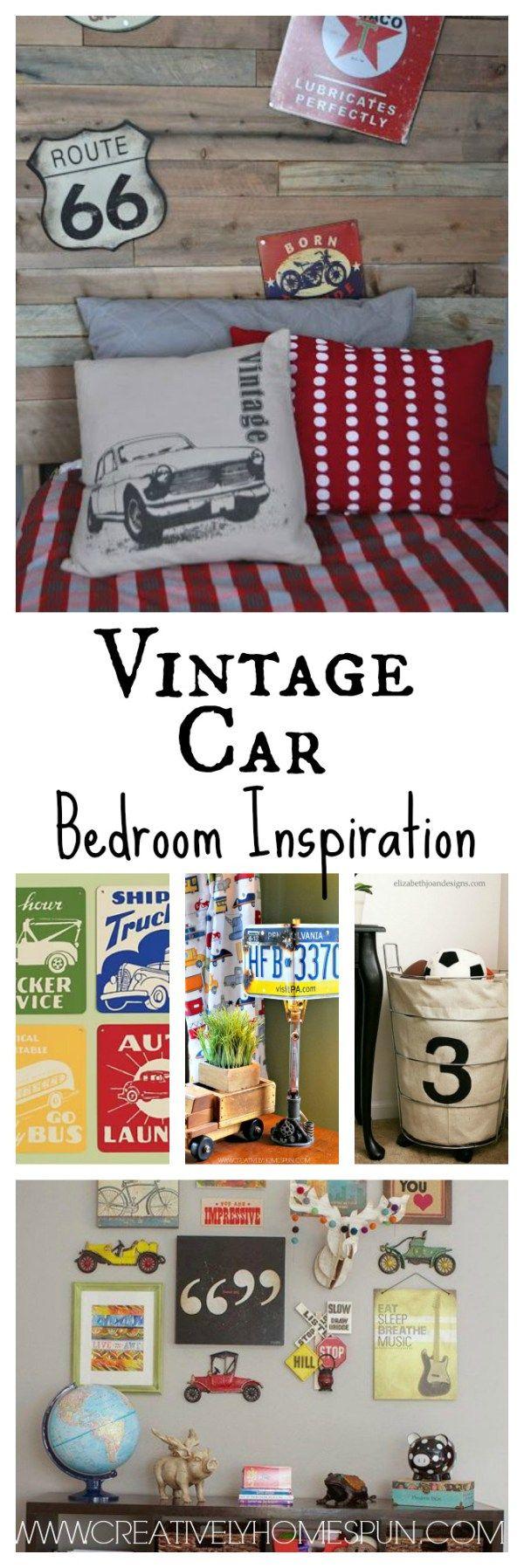 Vintage Car Bedroom Inspiration #boysroom #kidsroom #bedroom #diydecor