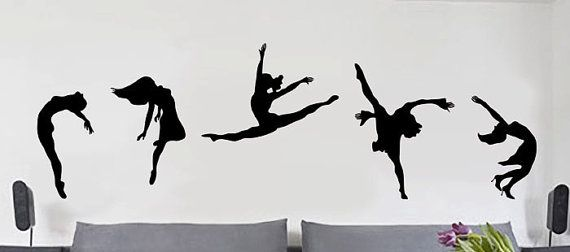 """Move your bad girl self!"" wall art! DANCE! Ballet Dancing - uBer Decals Wall Decal Vinyl Decor Art Sticker Removable Mural Modern"