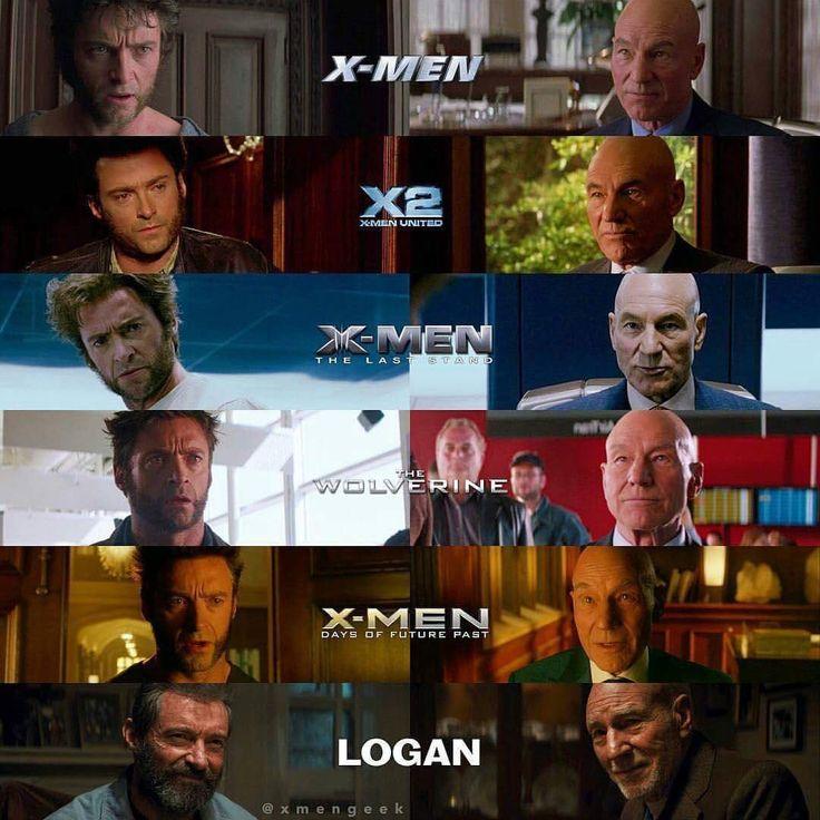 Logan (Wolverine) and Charles Xavier