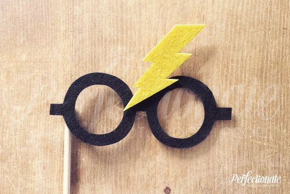 Youre a wizard, Harry. Stiff FELT Harry Potter Bolt Photo-Booth Prop Glasses on a stick! These HP Bolt prop glasses are hand cut and hand