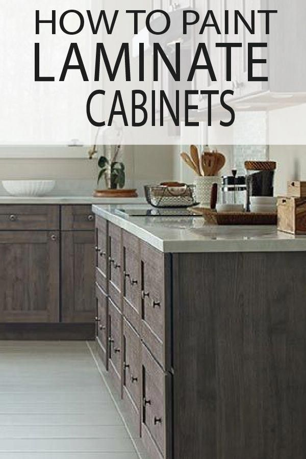 How To Paint Laminate Cabinets With