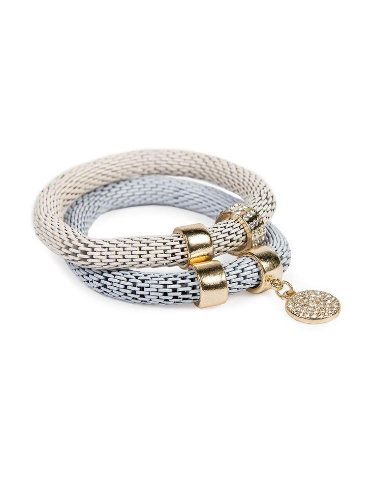 Diamanté Mesh Bracelets