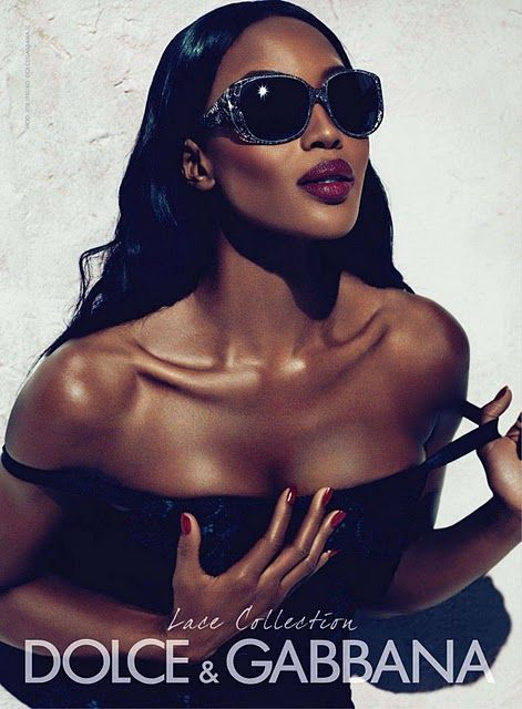 Naomi Campbell for Dolce & Gabbana sunglasses