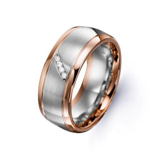 MEN'S 9ct White Rose Gold Diamond Wedding Band 0 04ct Heavy   eBay