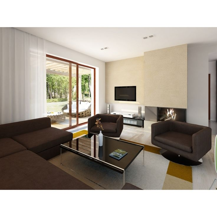 Zlokalizowana na parterze część dzienna mieści przestronny pokój dzienny z jadalnią, kuchnię, spiżarnię, gabinet, wc.