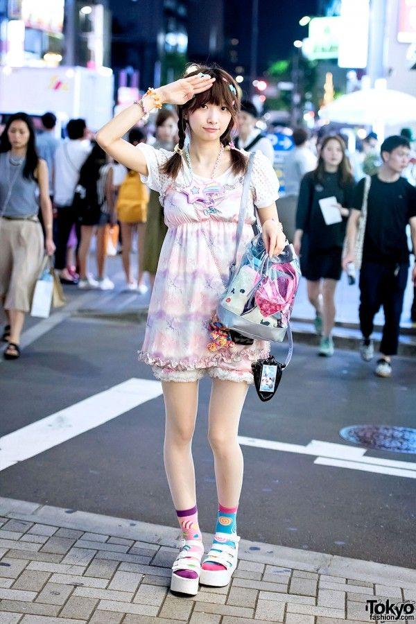 Harajuku Girl in Kawaii Look w/ 6%DOKIDOKI, Candy Stripper & Shimamura  => https://instagram.com/sakura_pluto/