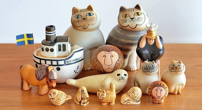 コレクションしたくなる かわいくて味わい深い リサ ラーソン の動物オブジェ キナリノ リサラーソン 猫 リサラーソン 動物オブジェ