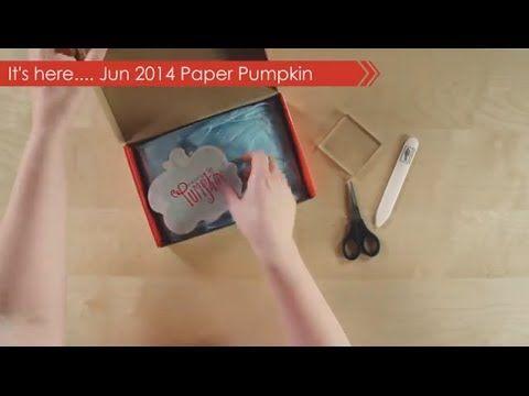 ▶ Paper Pumpkin June 2014 - YouTube
