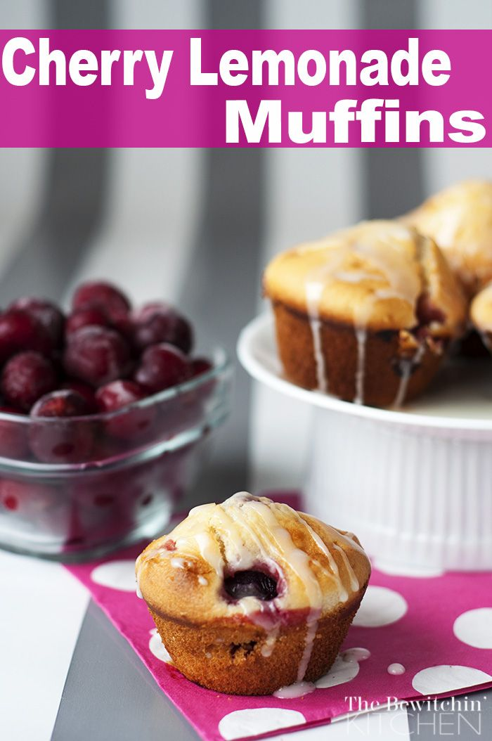 Cherry Lemonade Muffins | Recipe | Cherry Lemonade, Lemonade and ...