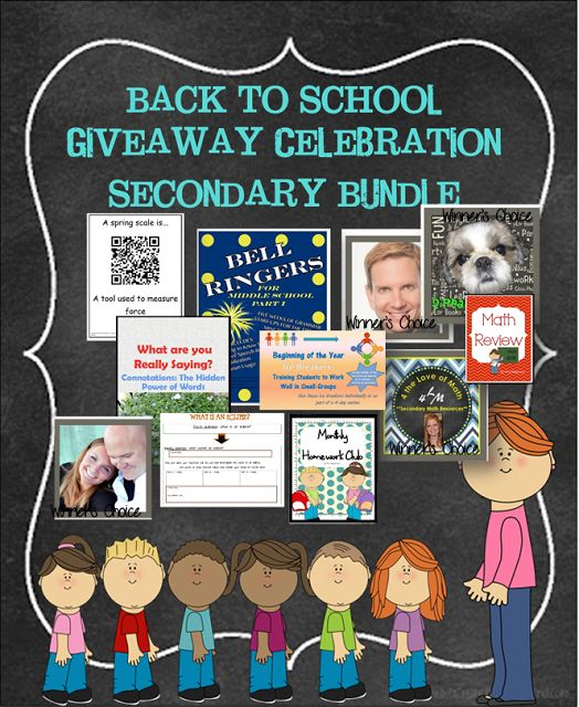 Awesome Bundle of Secondary School resources being given away on my blog!