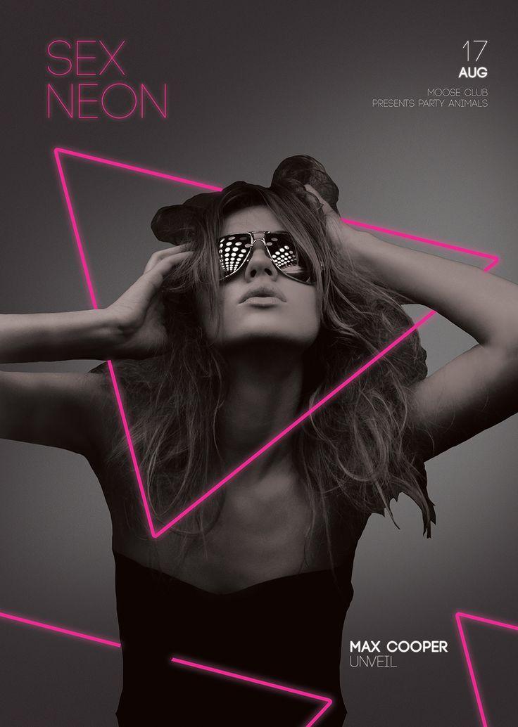 Neon Girl Poster