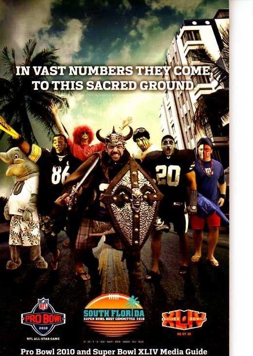2010 NFL PRO BOWL AND SUPER BOWL XLIV MEDIA GUIDE MIAMI FLORIDA