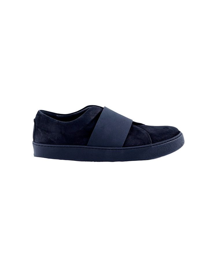 THE LAST CONSPIRACY SNEAKERS MAN Flosi black sneakers without laces horse leather  rubber sole closure with elastic band