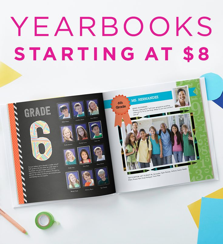 Shutterfly yearbooks are easy, fast and affordable. Starting at just $8, make it a school year to remember. | Shutterfly