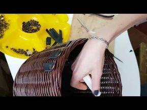 Устанавливаю ручки на сумку. Работа с кожей и фурнитурой. - YouTube