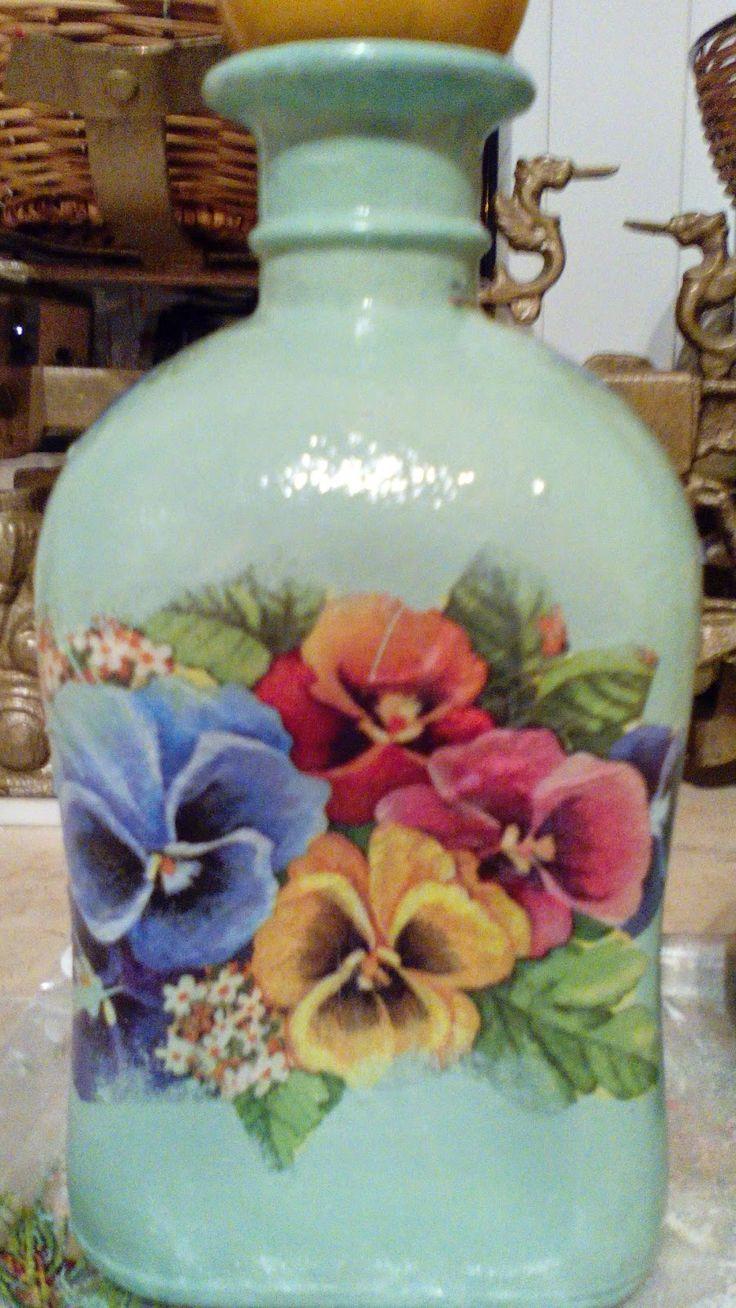 Pasje Ewy Blog Decoupage: DECOUPAGE-butelki
