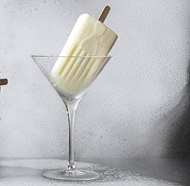 Lemon Vodka Cream Pops  3 or 4 medium lemons   1 cup full fat coconut milk or blended cashews into a fine milk (@3/4 c cashews and water)  1 cup almond milk   1/2 cup granulated sugar or 1/4 cup honey or maple syrup  1/8 tsp. sea salt  2 Tbs. citron vodka