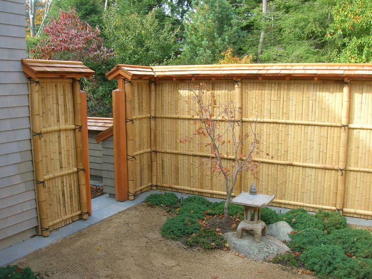special inspiration chic garden bamboo fence
